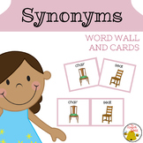 Synonyms Word Wall and Cards