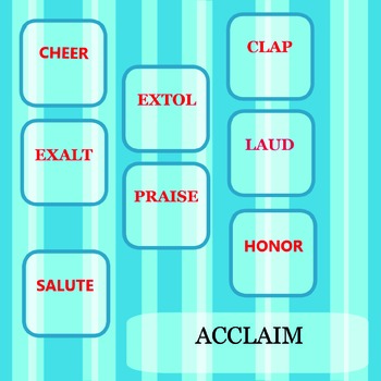 Synonyms  Words  Clipart 1 - Alphabet  A -  ELEMENTARY  MIDDLE  HIGH