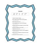 Synonyms Worksheet