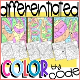 Synonyms Worksheet Color by Code