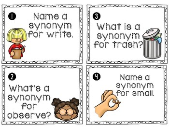 Synonyms Write the Room Review Activity