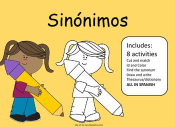 Synonyms activities Actividades con Sinonimos