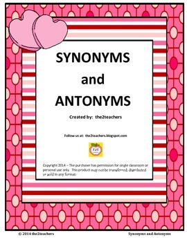 Synonyms and Antonyms