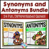 Synonyms and Antonyms Activities Bundle: 24 Synonyms and Antonyms Games