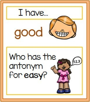 Synonyms and Antonyms - 'I Have, Who Has' game bundle