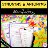 Synonyms and Antonyms 2nd and 3rd Grade with Google Slides Distance Learning