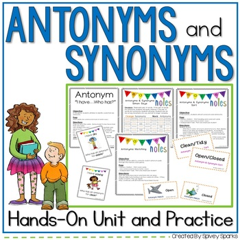 Synonym And Antonym Worksheets | Teachers Pay Teachers