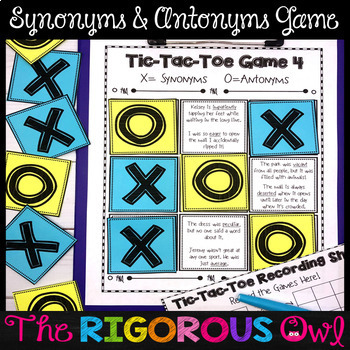 Synonyms and Antonyms Activities