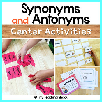 Synonyms and Antonyms Activities and Task Cards
