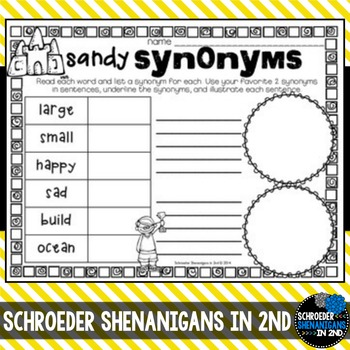 Synonyms and Antonyms- anchor charts, I have who has, practice, flip flap pages
