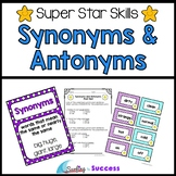 Synonyms and Antonyms: Assessments, Games, and Worksheets
