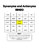 Synonyms and Antonyms BINGO