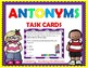 Synonyms and Antonyms - BUNDLE - Synonyms & Antonyms Task Cards and Games