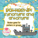 Synonyms and Antonyms Battleship Game