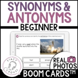 Synonyms and Antonyms BEGINNER Vocabulary BOOM CARDS™
