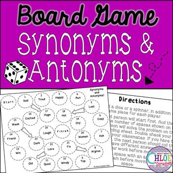 Synonyms and Antonyms Board Game