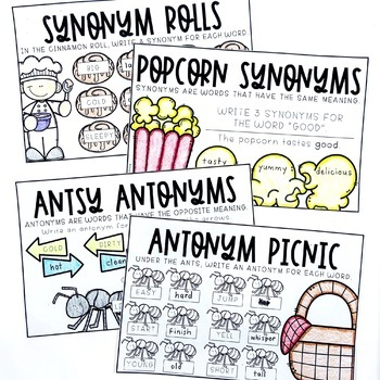 Synonyms and Antonyms Booklet