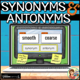 Synonyms and Antonyms Boom Cards: Digital Task Cards