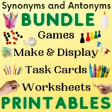 Synonyms and Antonyms Bundle of Printable Activities Long