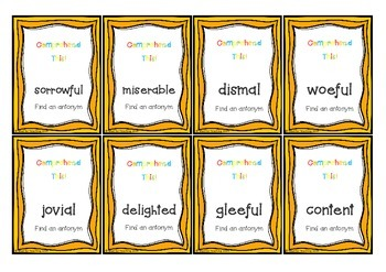 Synonyms and Antonyms Comprehend This! Card Game
