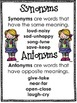Synonyms and Antonyms Copy and Go Centers