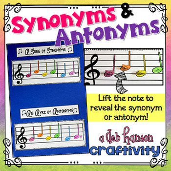 Synonyms and Antonyms Craftivity