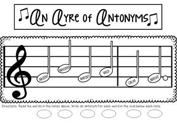 Synonyms and Antonyms Craftivity