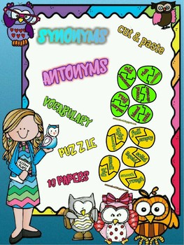 Synonyms and Antonyms Cut & Match Eggs