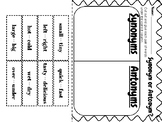 Synonyms and Antonyms Cut and Paste Worksheet Practice