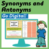 Synonyms and Antonyms Digital Activities for Google Classroom