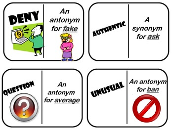 Synonyms and Antonyms Dominoes