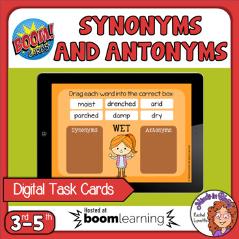 Synonyms and Antonyms Drag and Drop Digital Boom Cards! #boomlove