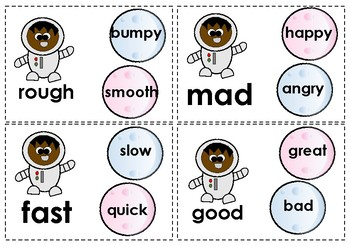 Synonyms and Antonyms - Easy, Medium and Hard