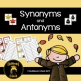Synonyms and Antonyms:  Fall Edition