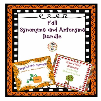 Synonyms and Antonyms Fall Themed Bundle