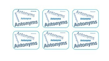 Synonyms and Antonyms (Four Games One Price)