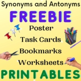 Synonyms and Antonyms Freebie Printable Activities Long A