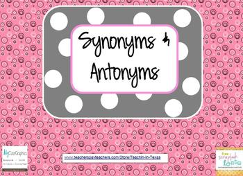 Synonyms and Antonyms Games and Practice