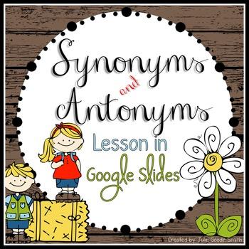 Synonyms and Antonyms Google Slides Presentation