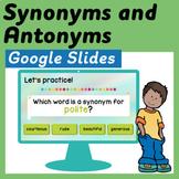 Synonyms and Antonyms Google Slides Presentation - Distanc