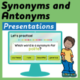 Synonyms and Antonyms Google Slides and Power Point Presentations