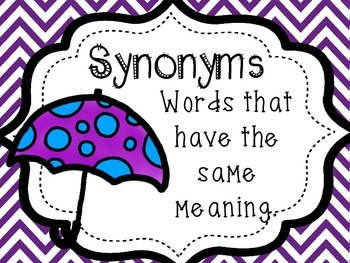 Synonyms and Antonyms I Have Who Has