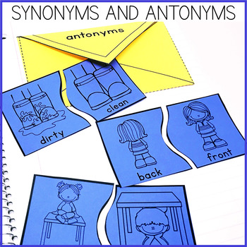 Synonyms and Antonyms Interactive Notebook