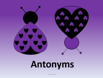 Synonyms and Antonyms Love Bugs - FREEBIE