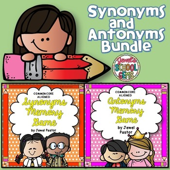 Antonyms and Synonyms Activities BUNDLE