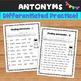 Synonyms and Antonyms No Prep Printables