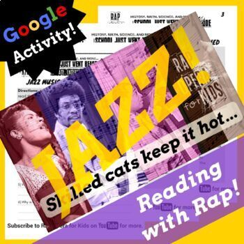Google Forms ELA Synonyms and Antonyms Passage Activity Using Rap Song