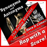 Synonyms and Antonyms Passage with Worksheets Using Scary Story Rap Song