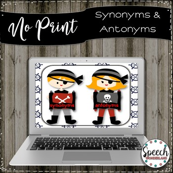 No Print Synonyms and Antonyms Pirate Theme