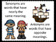 Synonyms and Antonyms--Pirate Theme